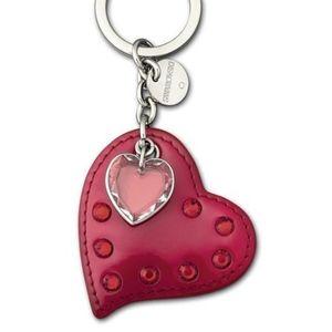 Swarovski Ladybird Red Heart Keychain